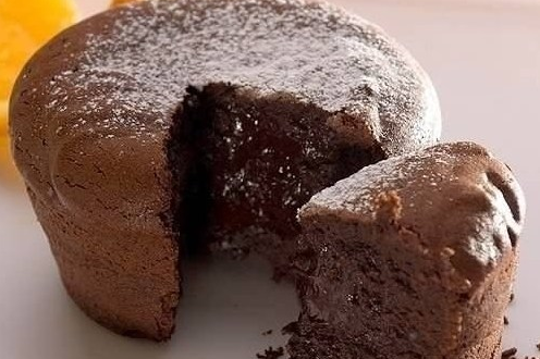 Chocolate muffin in French