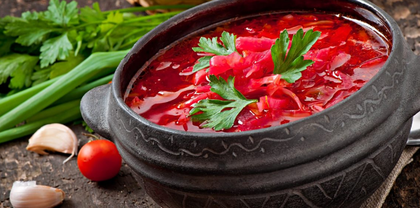 Borsch, soup of the classic recipe.