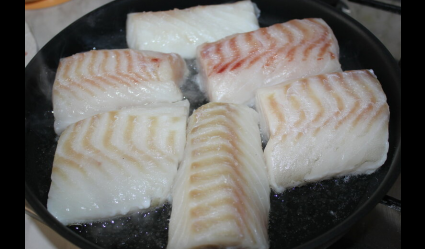 Baked cod in Italian, step 1